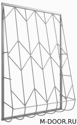 Дутая сварная решетка на окно 005 2