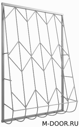 Дутая сварная решетка на окно 005