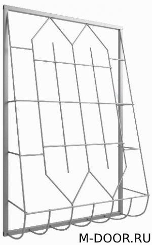 Металлическая дутая оконная решетка 011 3