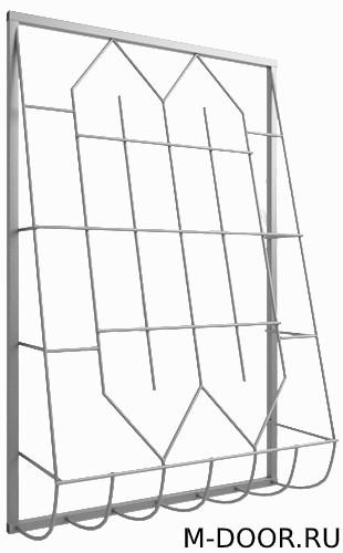 Металлическая дутая оконная решетка 011