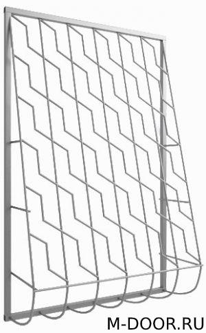 Металлическая дутая решетка 010