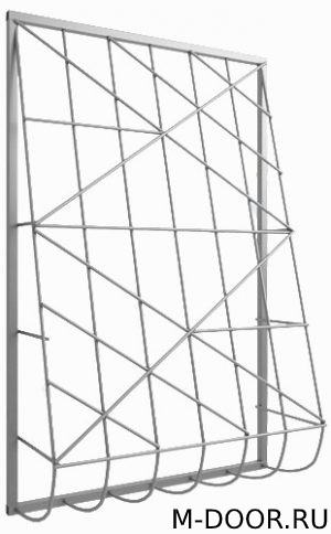 Металлическая дутая решетка на окна 012 4