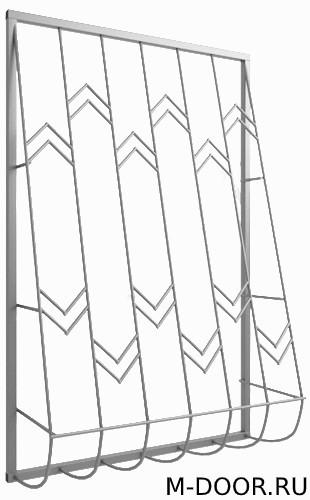Решетка дутая металлическая 037