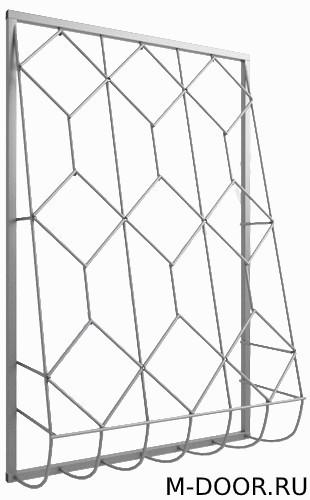 Решетка дутая железная на окна 040