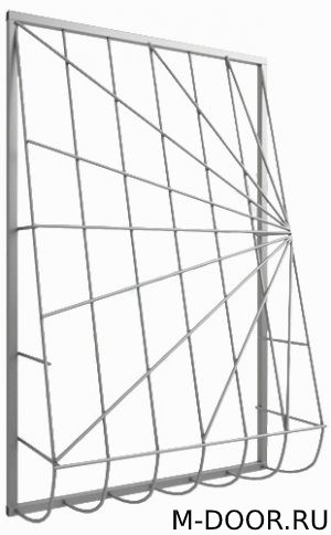 Решетка стальная дутая на окна 024