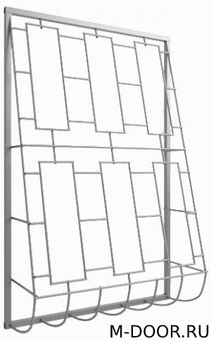Решетка стальная дутая оконная 025 1
