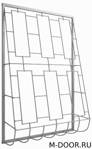 Решетка стальная дутая оконная 025