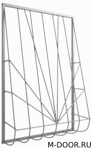 Решетка сварная дутая на окно 022 3