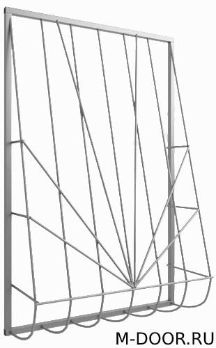 Решетка сварная дутая на окно 022