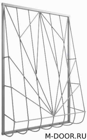 Решетка сварная дутая оконная 023