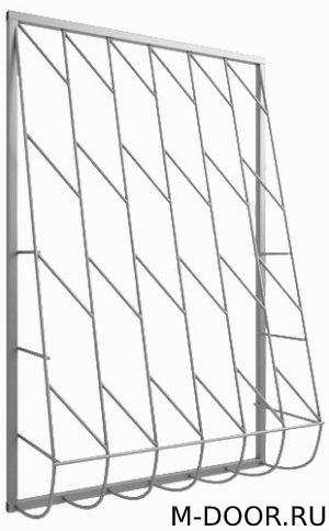 Сварная дутая решетка на окно 008 5