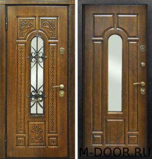 Стальная дверь Лацио МДФ (Vinorit) с ковкой и стеклом 4