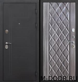 Металлическая дверь в квартиру Геона с отделкой порошковое напыление и МДФ 3
