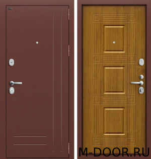 Стальная дверь в квартиру Палермо с отделкой порошковое напыление и МДФ 3