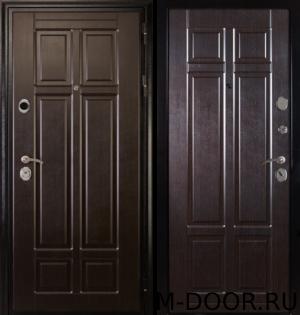 Утепленная металлическая дверь Викинг отделка МДФ (Винорит) с двух сторон 4