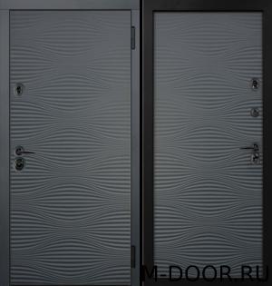Металлическая утепленная дверь Замок отделка МДФ с двух сторон 12