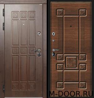 Утепленная стальная дверь Алеут отделка МДФ (Винорит) с двух сторон 5