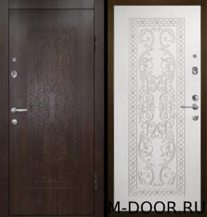 Стальная утепленная дверь Ладога отделка МДФ (Винорит) с двух сторон 4
