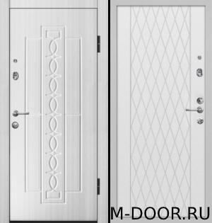 Металлическая утепленная дверь Воевода отделка МДФ (Винорит) с двух сторон 2