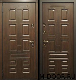 Уличная металлическая дверь Лига МДФ Винорит с двух сторон 2