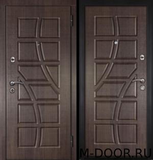 Дверь уличная металлическая  МДФ Турин с двух сторон 11
