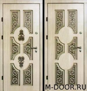 Стальная дверь уличная Людовик МДФ с двух сторон 12