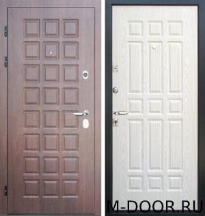 Стальная уличная дверь с терморазрывом Базилика МДФ Винорит 1