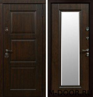 Стальная дверь Виконт МДФ (ПВХ) с зеркалом 10