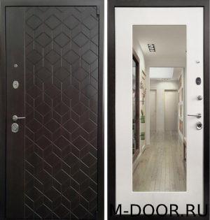 Дверь стальная Квинт МДФ (ПВХ) с зеркалом 2