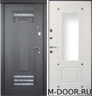 Входная стальная дверь Колона МДФ (ПВХ) с зеркалом 4