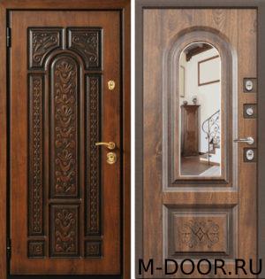 Входная стальная дверь Родос МДФ (ПВХ) с зеркалом 4