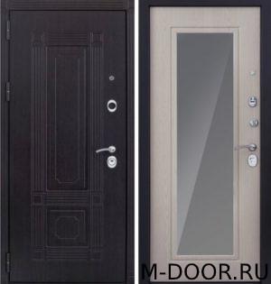 Входная металлическая дверь Грация МДФ (ПВХ) с зеркалом 4