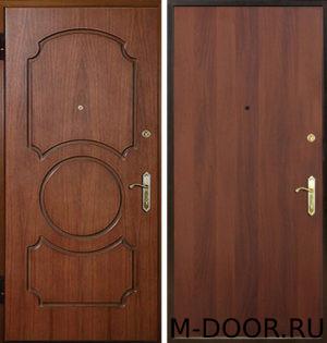 Входная металлическая дверь Уют с отделкой МДФ и ламинат 2