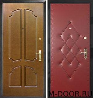 Металлическая дверь Астория с отделкой винилискожа и МДФ 1