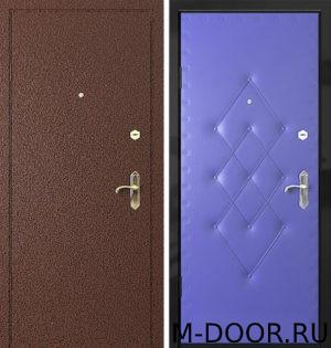 Металлическая дверь Мода порошковое напыление и винилискожа 2