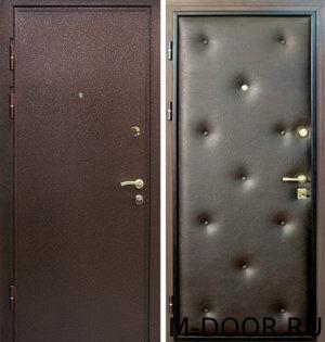 Стальная дверь Контраст порошковое напыление и винилискожа 4