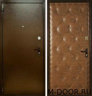 Стальная дверь Патио порошковое напыление и винилискожа 3