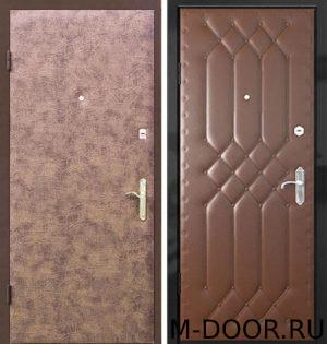 Металлическая дверь Вертикаль с винилискожей с двух сторон 3