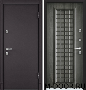 Стальная дверь с шумоизоляцией Шоколад порошковое напыление и МДФ 7