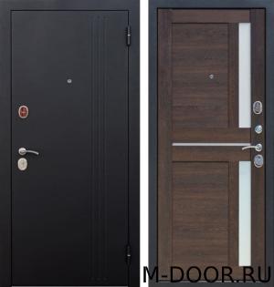 Дверь металлическая с шумоизоляцией Нью-Йорк порошковое напыление и МДФ 10