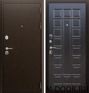 Дверь металлическая в загородный дом Спарта порошковое напыление и МДФ 7