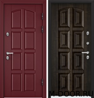 Металлическая входная дверь в загородный дом Буржуа МДФ с двух сторон 1