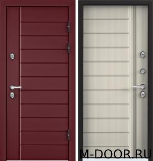 Стальная входная дверь в загородный дом Бюргер МДФ с двух сторон 16