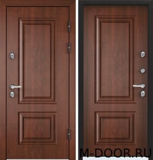 Металлическая входная дверь в загородный дом Бавария с отделкой МДФ (Винорит) 2