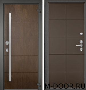 Стальная дверь в коттедж Калифорния с отделкой МДФ(Винорит) 4