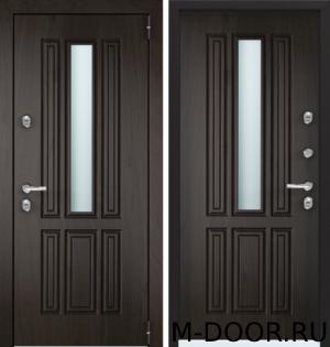 Стальная дверь в коттедж Валенсия с отделкой МДФ 18