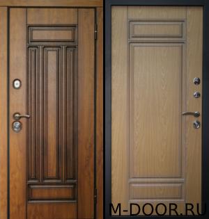 Металлическая дверь в квартиру Борджиа с отделкой МДФ 3